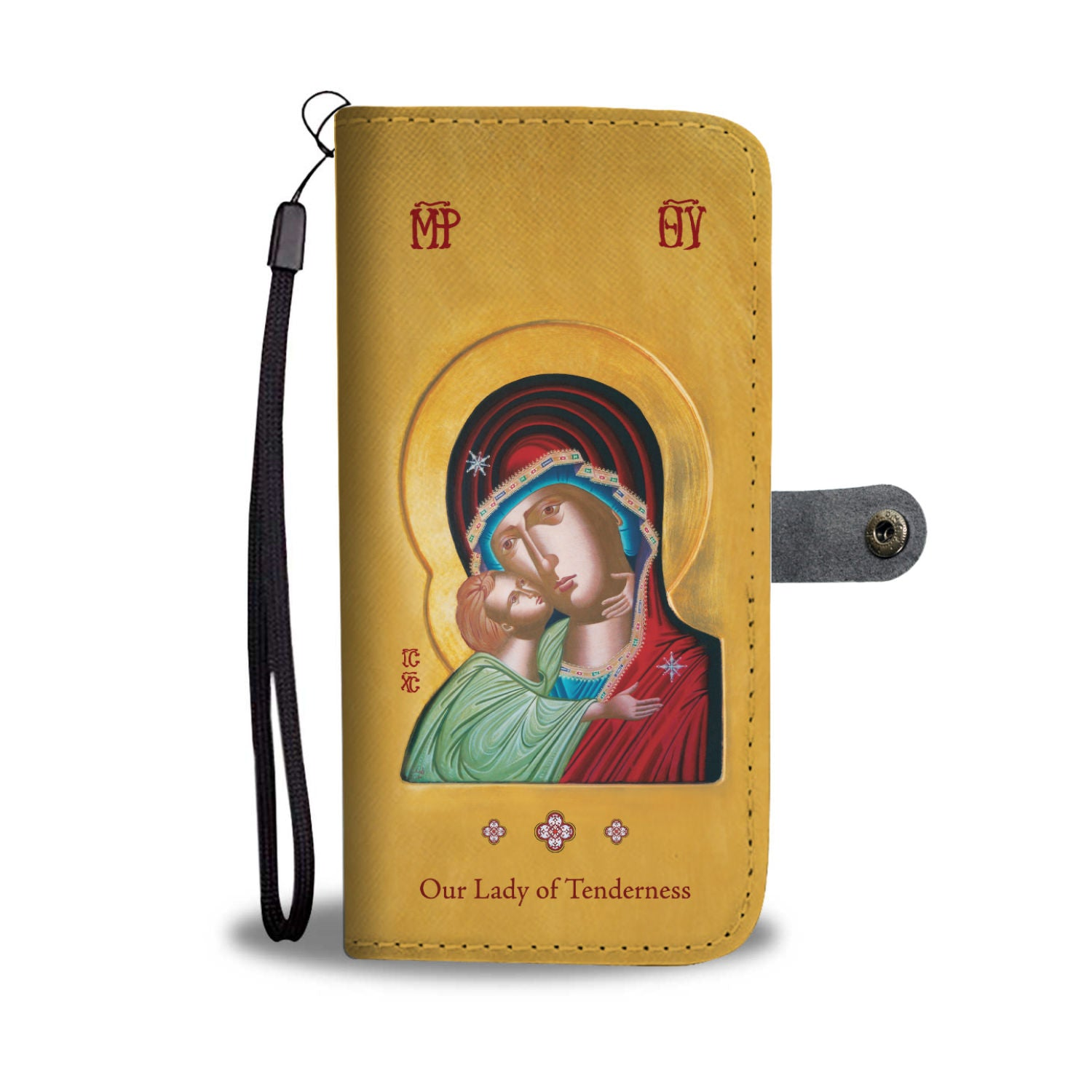 Our Lady of Tenderness - Theotokos - Phone Wallet & Case - Chady Elias