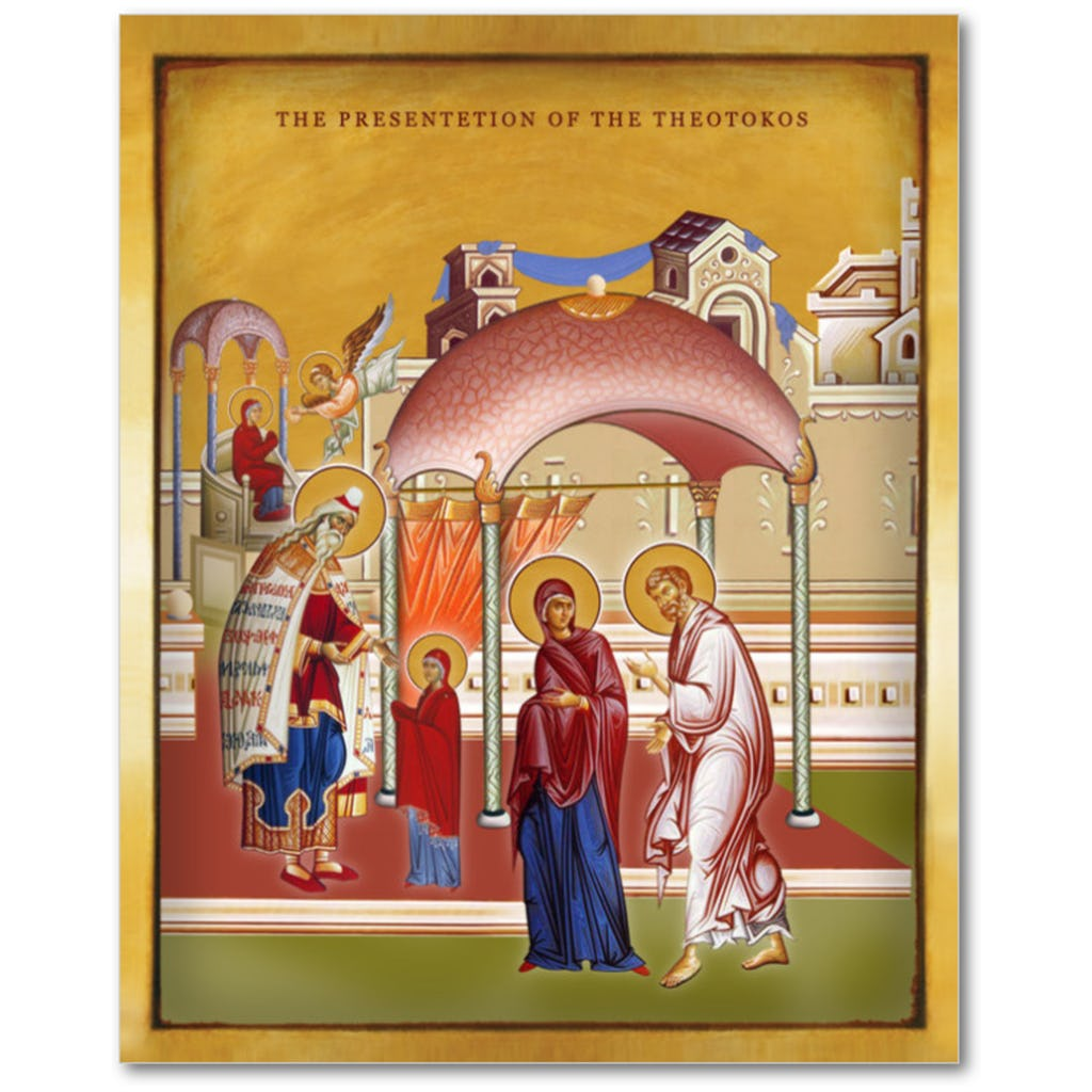 THE PRESENTATION OF THE THEOTOKOS 8x10 - Chady Elias