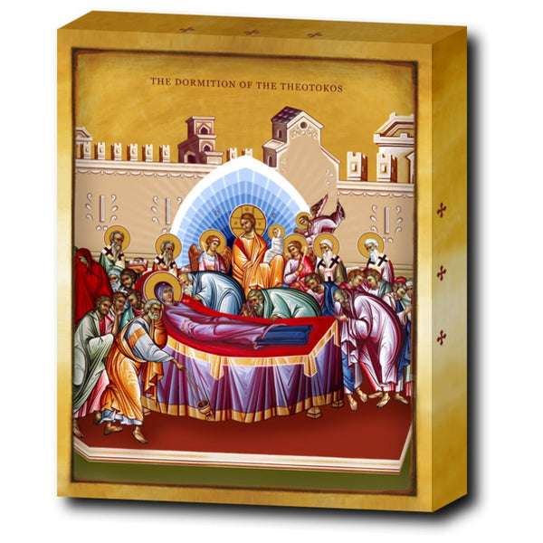 The Dormition, and Assumption of the Blessed Virgin Mary - 8x10 in - Chady Elias