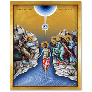The Baptism of The Lord Jesus - 8x10 in - Chady Elias