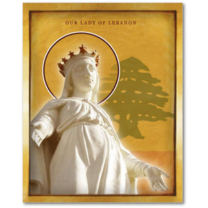 Our Lady Of Lebanon - Icon - 8x10 in - Chady Elias