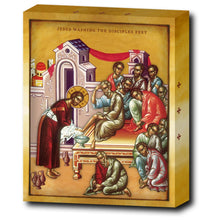 JESUS WASHING THE DISCIPLES FEET - 8x10 in