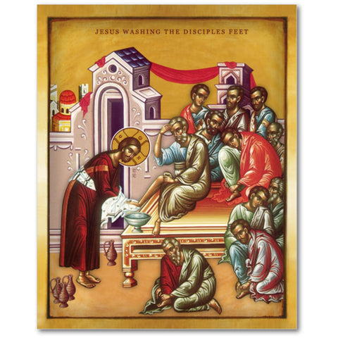 JESUS WASHING THE DISCIPLES FEET - 8x10 in - Chady Elias