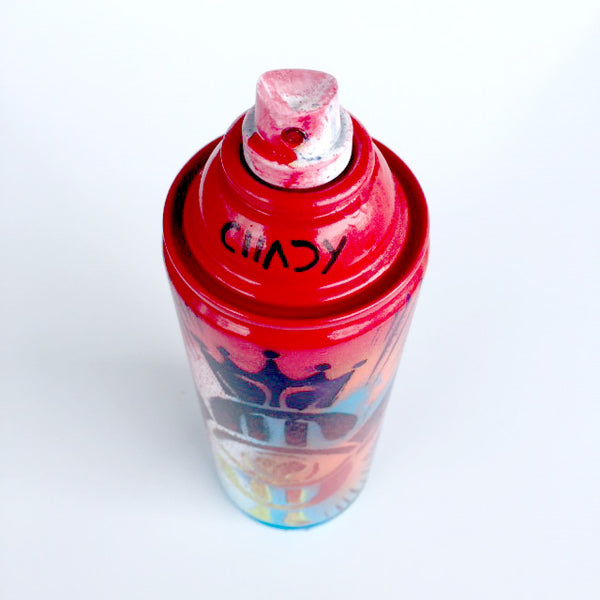 Color Your Life - Red Spray Paint Can - Artwork  - N65-0U3-300 - Chady Elias