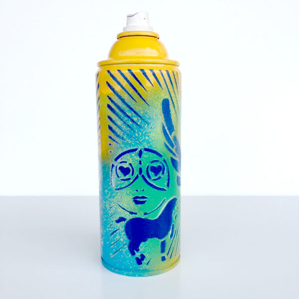 Color Your Life - Yellow Lime Spray Paint Can - Artwork  - 456-67G-4Z9 - Chady Elias
