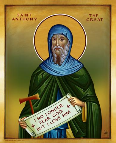 Saint Anthony The Great - Icon - 13x16 in - Chady Elias