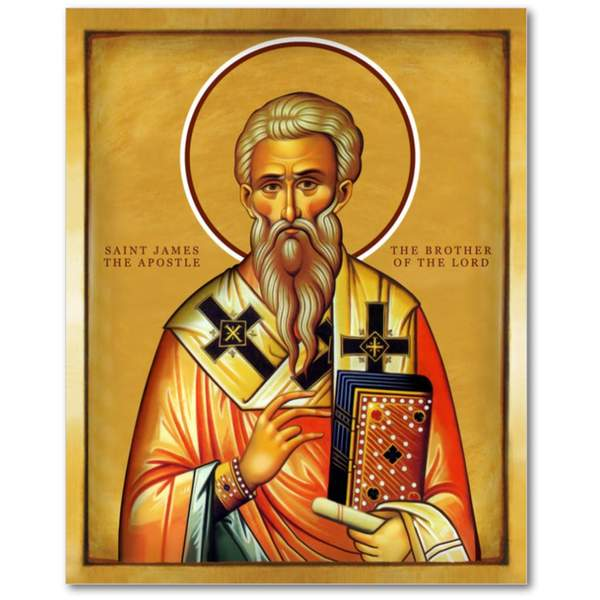 Saint James - The brother of the Lord - Icon - 5x7 in - Chady Elias