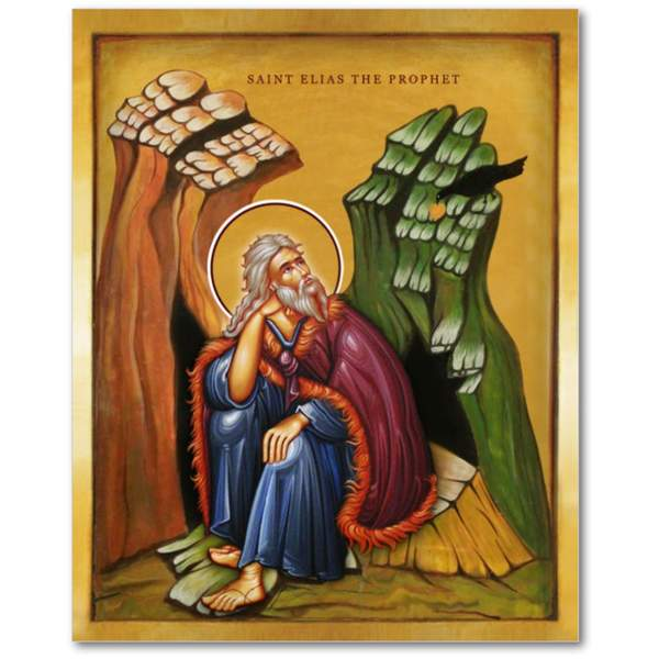 Saint Elias The Prophet - Icon - 8x10 in - Chady Elias