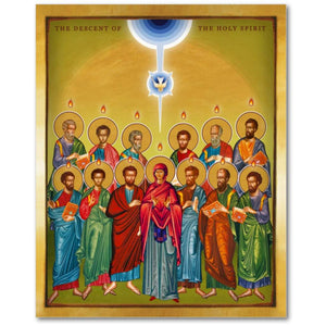 The Pentecost - The Descent of the Holy Spirit - Icon - 13x16 in - Chady Elias