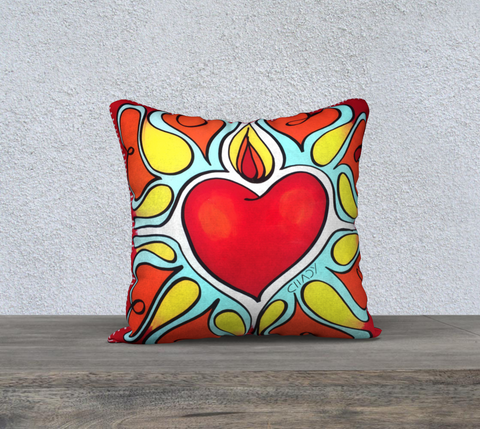 "Flourishing Heart - 18"" Pillow Case - Chady Elias"