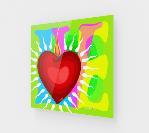 Love - Heart - G - Acrylic Edition - Chady Elias