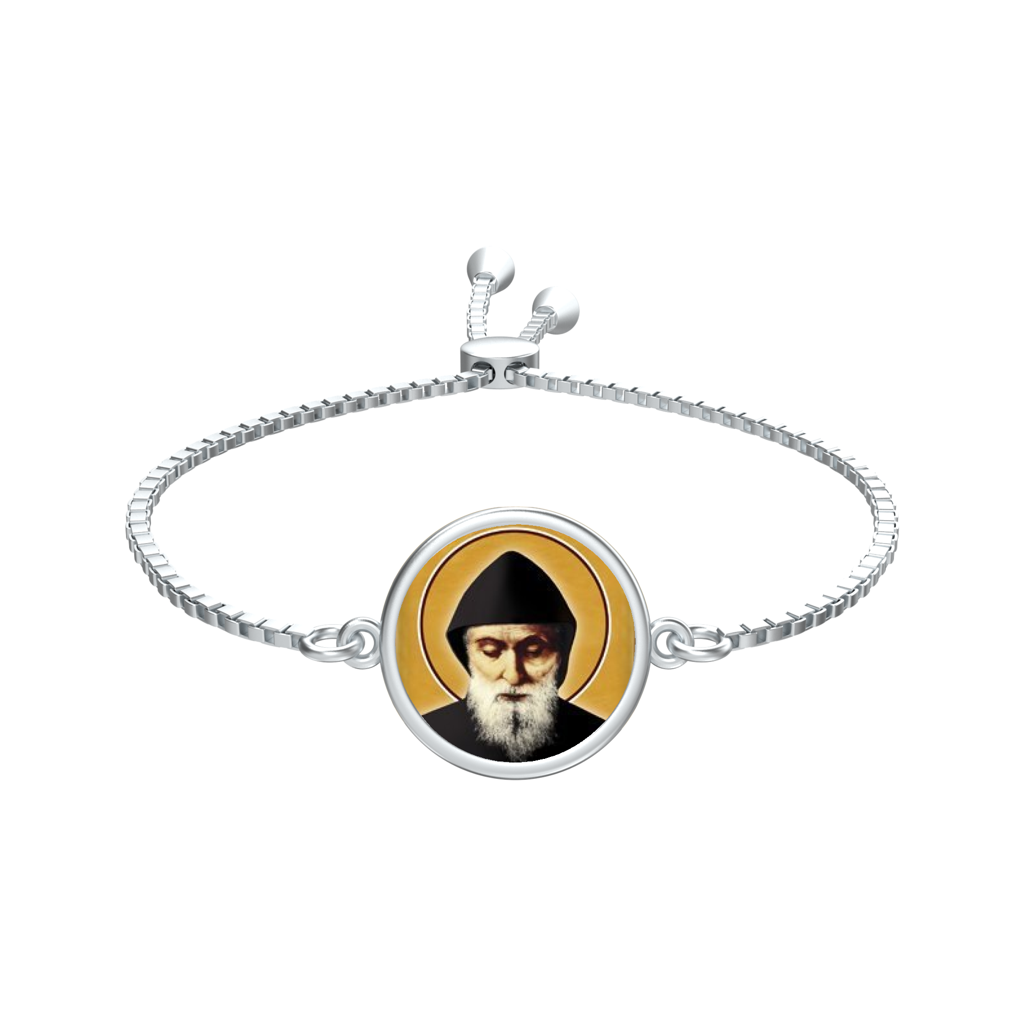 Saint Charbel - Ashe Coin Bracelet in Silver - Chady Elias