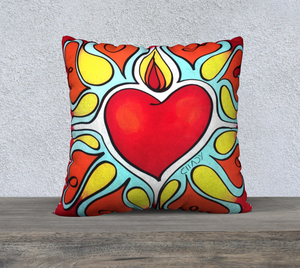 "Flourishing Heart -  22"" Pillow Case - Chady Elias"