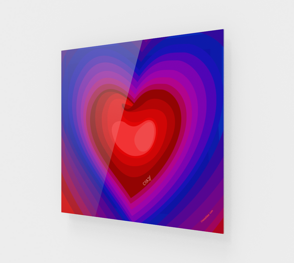 Colorful Heart - Acrylic Edition - Chady Elias