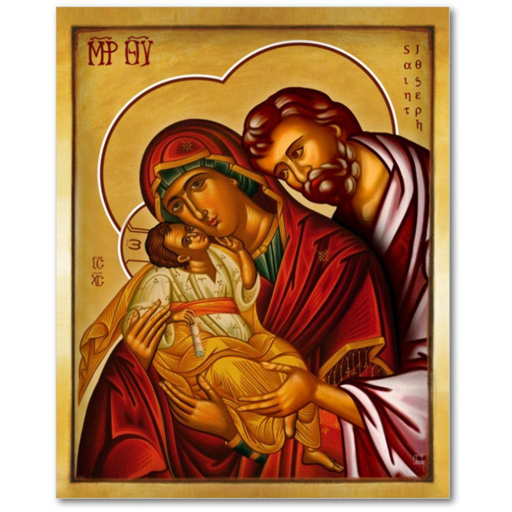 The Holy Family - Icon - 5x7 in - Chady Elias