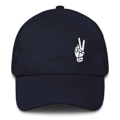 Royal Peace White on Navy Cotton Cap - Chady Elias