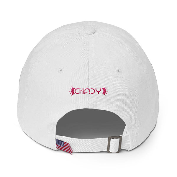 Royal Peace pink on white Cotton Cap - Chady Elias