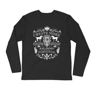 Create More | White on Black Long Sleeve Fitted Crew - Chady Elias