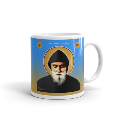 Saint Charbel Mug - 15oz - made in the USA - Chady Elias