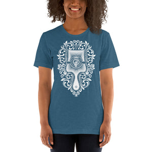 Brush - Choose Peace Love and Kindness Short-Sleeve Heather Deep Teal Ladies T-Shirt - Chady Elias