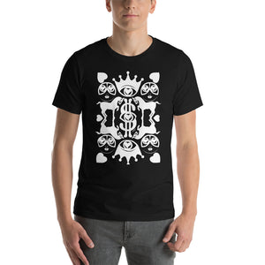Majestic Harmony | White on Black | Short-Sleeve Men T-Shirt - Chady Elias