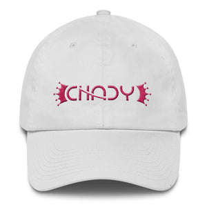 CHADY Pink on White Cotton Cap - Chady Elias