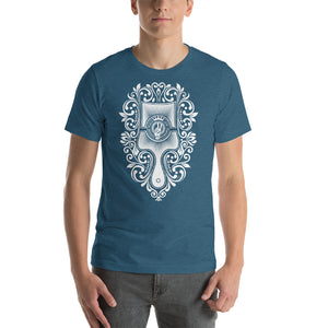Brush - Choose Peace Love and Kindness Short-Sleeve Heather deep teal Men T-Shirt - Chady Elias