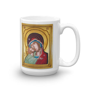 Our Lady of Tenderness - The Sweet Kissing - Theotokos - Mug - Chady Elias