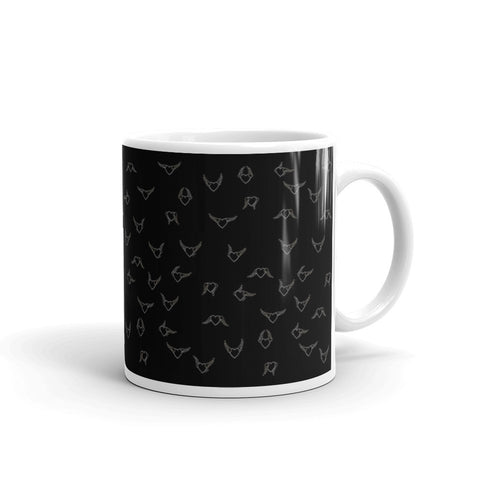 Flying Heart - Mug BW - Chady Elias
