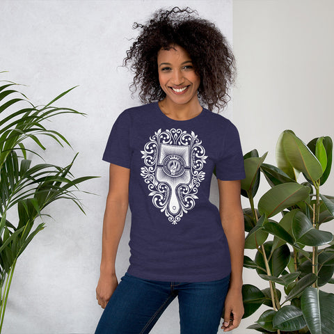 Brush - Choose Peace Love and Kindness Short-Sleeve Navy Heather Lady T-Shirt - Chady Elias