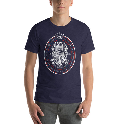 ETERNAL CREATIONS FOR A HIGHER CONSCIOUSNESS Short-Sleeve Men Heather Midnight Navy T-Shirt - Chady Elias