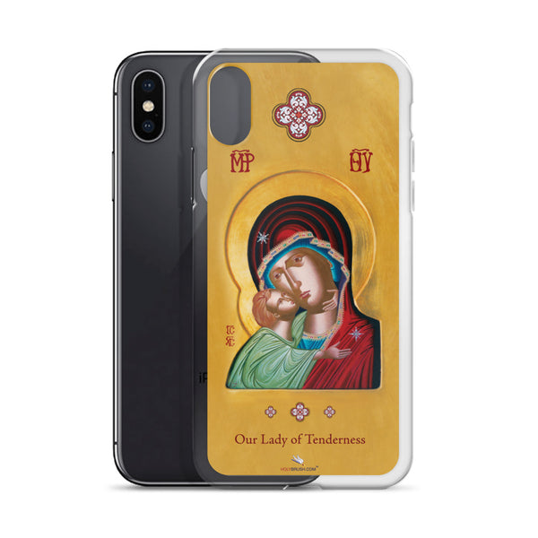 Our Lady of Tenderness - The Sweet Kissing - iPhone X Case - Chady Elias