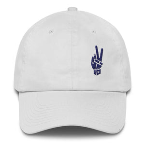 Royal Peace Navy on White Cotton Cap - Chady Elias