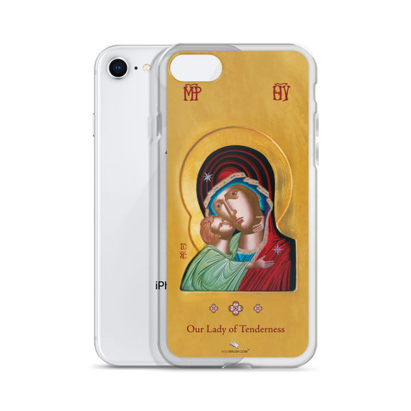 Our Lady of Tenderness - The Sweet Kissing - iPhone Cases - Chady Elias