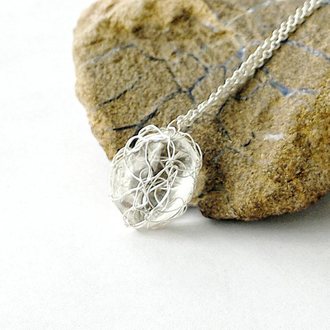 Clear Quartz Charm Necklace