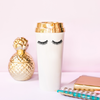 Image of Eyelashes Gold Travel Mug