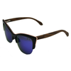 Image of Women's Black Frame Ebony Cat Eye Sunglasses - Polarized Lenses
