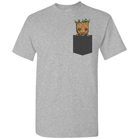 Baby Groot Pocket Tees Unisex