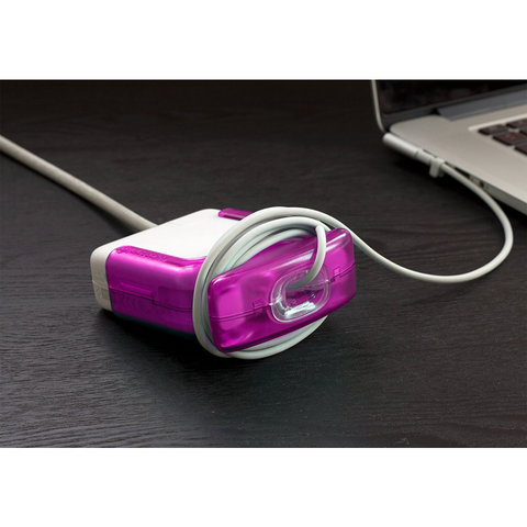 Magenta Juiceboxx MacBook Charger Case