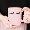 Image of Pink Eyelashes Coffee Mug