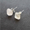 Image of Rose Quartz Stud Earrings