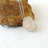 Image of Rose Quartz Charm Necklace