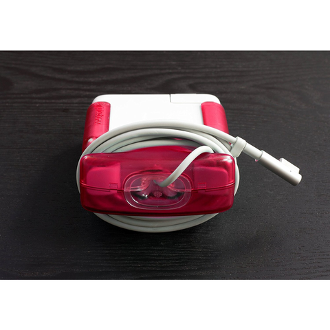 Red Juiceboxx MacBook Charger Case