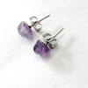 Image of Amethyst Stud Earrings