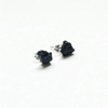 Image of Raw Black Tourmaline Stud Earrings