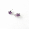 Image of Raw Amethyst Stud Earrings
