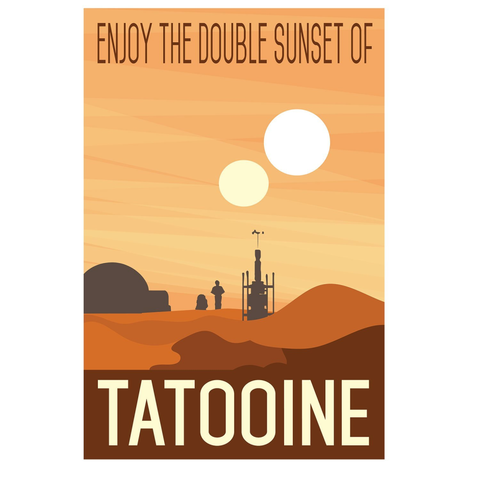 Star Wars Tatooine Travel Poster