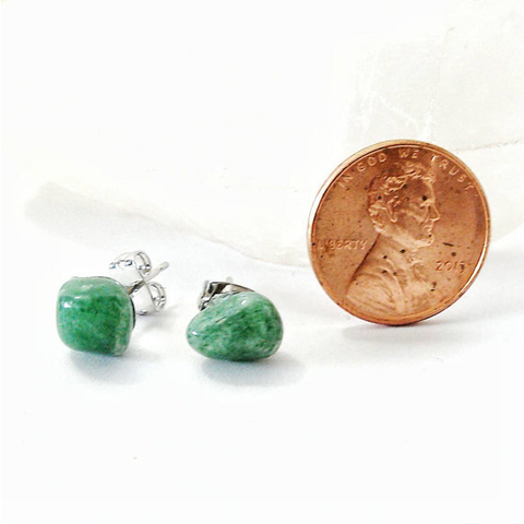 Green Aventurine Stud Earrings