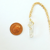Image of Quartz Point Necklace- Gold