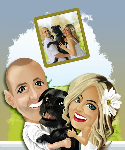 Custom Digital Caricature For Your Family
